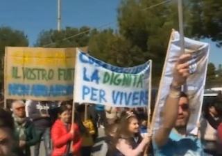 Produttori agricoli protestano per la crisi al mercato ortofrutticolo di Vittoria