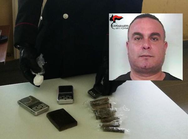 Droga, trovato con hashish e cocaina a Vittoria: arrestato