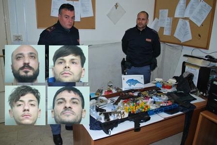 Catania, scoperto un arsenale di armi: sequestro e 4 arresti