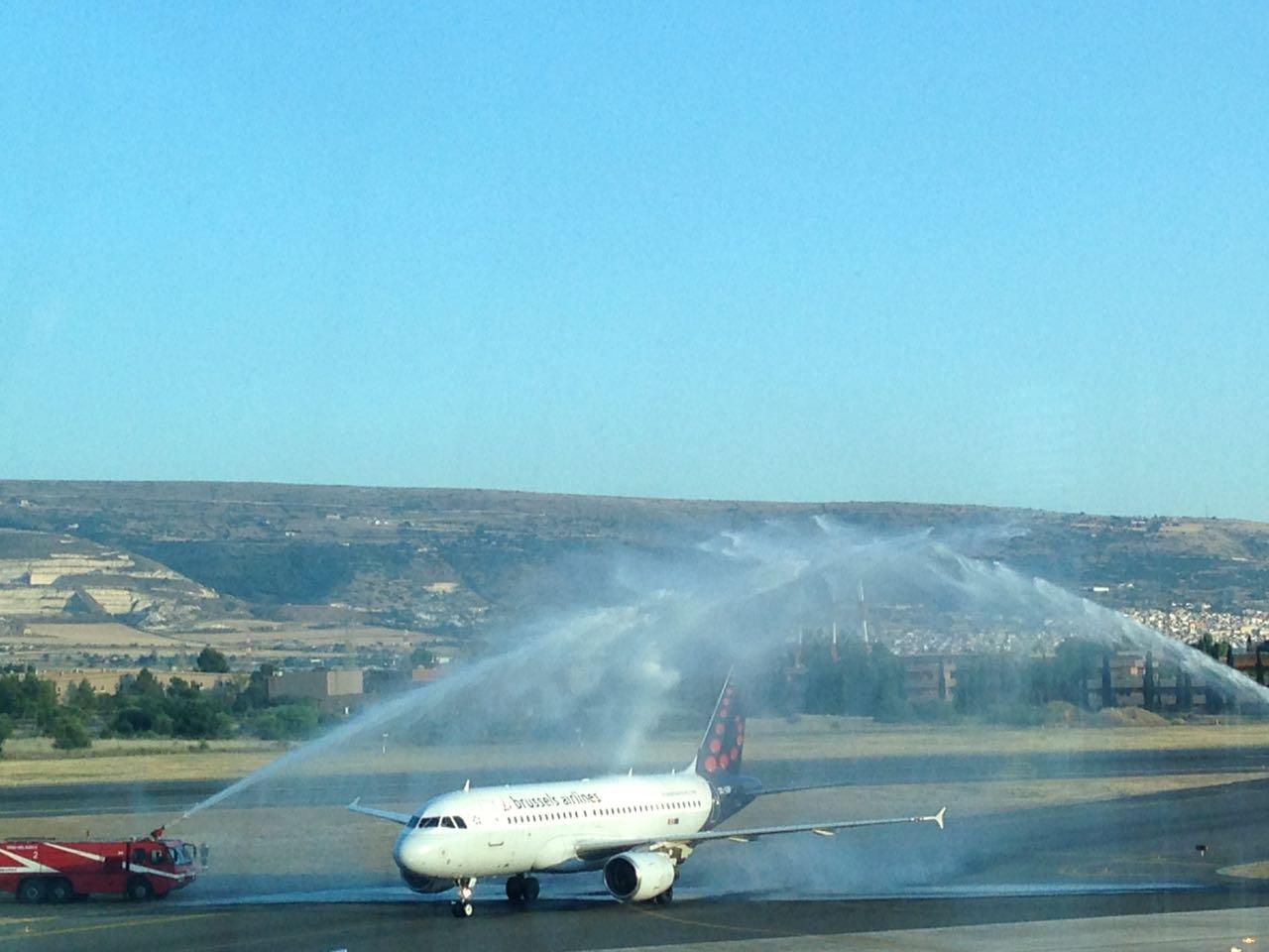 Aeroporto di Comiso, primo atterraggio della Brussels Airlains