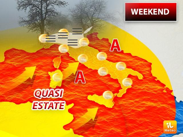 Bel tempo per il fine settimana in tutta Italia: temperature in rialzo