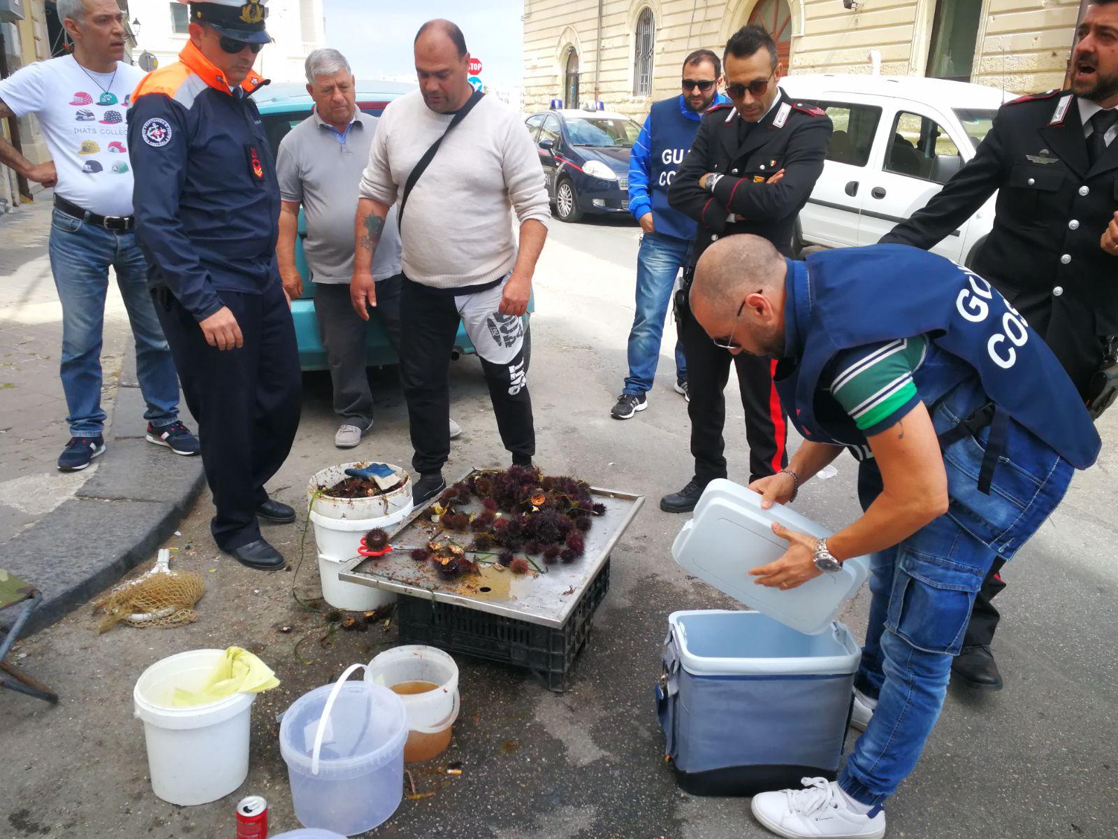 Siracusa, ancora venditore abusivi di ricci di mare: multe salatissime