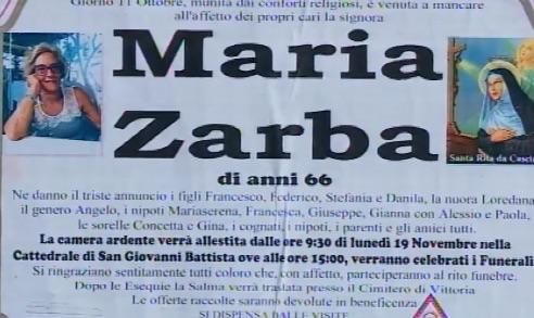 """""""Una vita per la famiglia e la comunità"""", l'addio di Ragusa a Maria Zarba"""