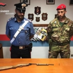 Armi e munizioni sequestrate in aree rurali del Reggino
